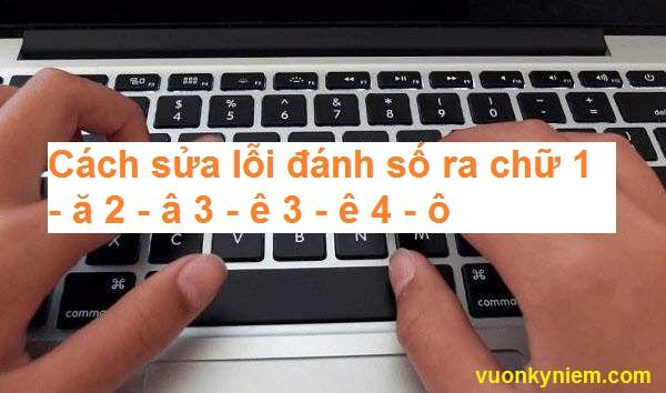Cách sửa lỗi đánh số ra chữ 1 - ă 2 - â 3 - ê 3 - ê 4 - ô